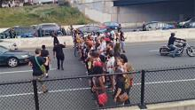 Afromation blockades I-83 over police brutality