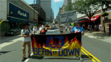 """Protesters at DNC reject Hillery's """"Party Unity"""""""