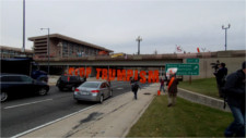 Blocking I-395 against Trumpism