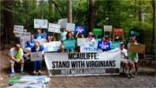 Hands Across our Land protest against Va fracked gas pipelines
