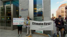 Climate First! protests Citibank's DAPL funding