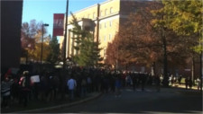 U-MD students walk out