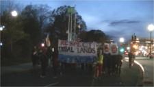 Marching on Wells Fargo board member Elaine Cho's house over DAPL funding