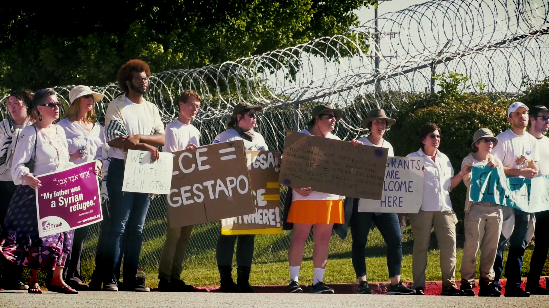 Tisha B'Av Protest Against Howard County Contract with ICE